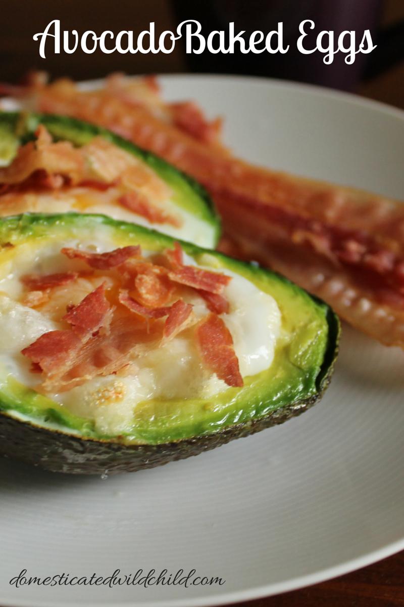 AvocadoBaked Eggs