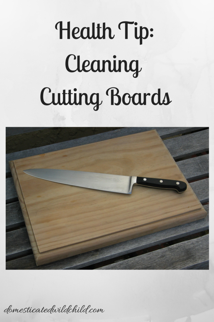 Health Tip_Cleaning Cutting Boards